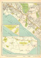 1935 Lancashire à grande échelle Carte-Aigburth, Dingle, barrage en bois, grassendal Park