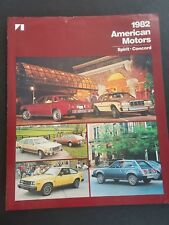 1982 American Motors. Spirit - Concord Dealer Sales Brochure