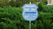 1 YARD SIGN 4 BRINKS SECURITY STICKERS HOME ALARM SIGN ADT ' L REFLECTIVE DECAL
