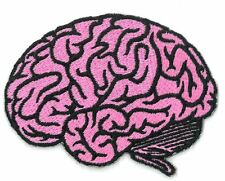 PINK BRAIN iron on/sew on Embroidered Patch Applique DIY (US Seller)