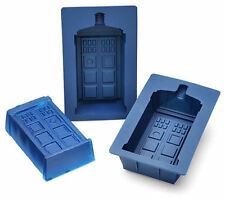 Tardis Dr Who Set of 2 Silicone Molds Jello Cookies Ice Chocolate Push Mold Blue