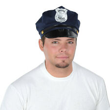 (1) Police Cop Officer Gangster Roaring 20s Party Costume Accessory Hat