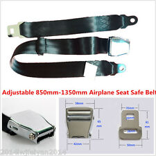 850mm-1350mm Adjustable Airplane Seat Safe Belt Plane Seatbelt Extenders Black