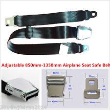 850mm-1350mm Adjustable Airplane Seat Safe Belt Plane Seatbelt Extenders Black