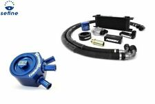 Perrin Oil Cooler Kit & GrimmSpeed Air/Oil Separator Blue For Impreza 02-05 WRX