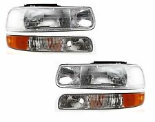 1999 - 2002 CHEVY SILVERADO HEAD & SIGNAL LIGHT LAMP LEFT & RIGHT PAIR 4PCS SET