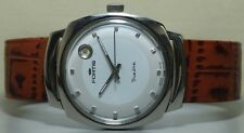 Vintage Fortis Trueline Automatic Date Swiss Wrist Watch Old Used r962 Antique