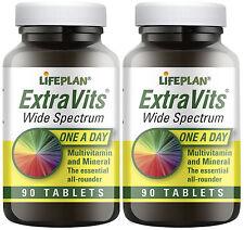 Lifeplan Extravits, Multi-Vits & Minerals - 2 x 90 tablets Twinpack (180 tabs)
