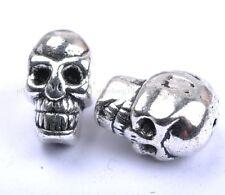 10pcs Tibetan Silver Skull Large Empty Beads 10X8MM SH41