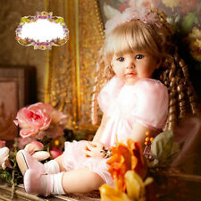 New Reborn Princess Baby Girl Doll 55cm Handmade Realistic Toys Gift Real Alive