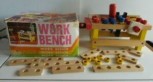 Vintage Toy Work Bench with box.