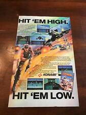 1991 VINTAGE 6.5x10 PRINT AD/CLIPPING Nintendo NES KONAMI LASER INVASION GAME