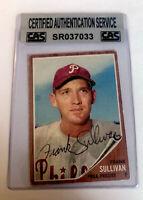 FRANK SULLIVAN 1962 Topps #352 CAS Authenticated Autograph PHILLIES
