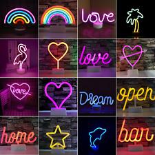 Neon Sign Light LED Wall Decoration Lights Art Decor Lamp for Kids Room Home Bar