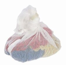 White Net Mesh Laundry Bag With Draw String 60/90 cm - Pack Of 5