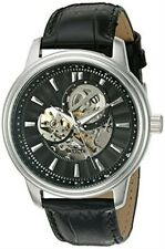 Invicta Men's Watch Vintage Automatic Semi-Skeleton Dial Leather Strap 22577
