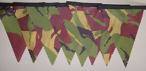 Ripstop Army Camouflage Bunting 4 mt or more Garden Party Child Gift Decoration