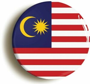MALAYSIA MALAYSIAN MALAY NATIONAL FLAG BADGE BUTTON PIN