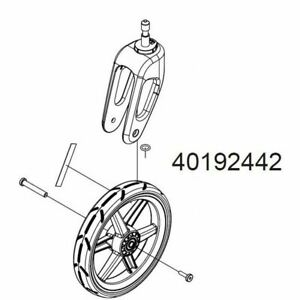 Thule Chariot Replacement Stroller Wheel And Caster For Cycle Bike Cross Or Lite