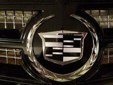 2002-2014 Cadillac Escalade Black Out Emblem Overlays Front+Rear set.