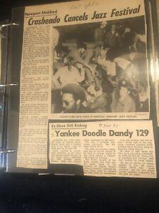 VTG 1970s Scrapbook Stars & Stripes newspaper clippings Vietnam Odd Content