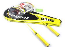 2x Regail 9158 Durable Speed Badminton Racket Battledore Racquet With Carry Bag