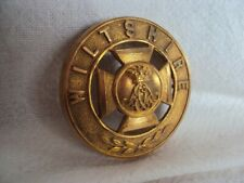More details for infantry helmet plate centre, wiltshire , brass
