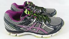 Asics 'GT-2000' Athletic Running Shoes Sneakers Purple / Gray Womens 8