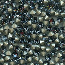 1028 SS29 SN***12 strass Swarovski fond conique 6,2mm SILVER NIGHT F