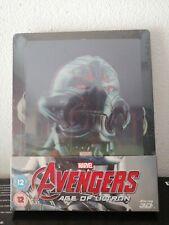Avengers: Age of Ultron Steelbook 3D Blu ray lenticular zavvi new