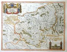 EUROPA FRANKREICH BITURICUM DUCATUS DUCHE BERRY WAPPEN LILIE TÜRME BLAEU 1640