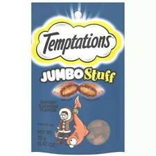 Lot Bundle Of 5 Temptations Jumbo Stuff Salmon Cat Treats 2.5oz