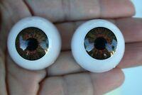 Ojos para muñeca 30 mm marrón  reborn bjd ooak dollfie manualidades nancy