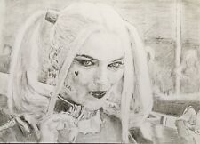 More details for harley quinn original artist's charcoal & pencil drawing a3 (not a print)