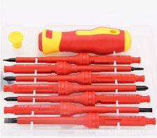 7PCs Multi-use Electrical Insulated Hand Screwdriver Tools Bolt Driver Durable