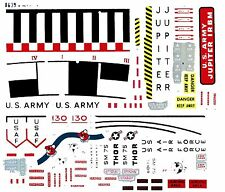 REPRODUCTION DECALS: REVELL THOR & JUPITER IRBM   OR REDSTONE/MERCURY