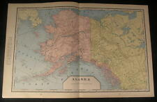 Alaska Fox Islands Alexander Archipelago Yukon 1899 antique detailed color map