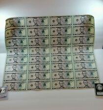 32 UNCUT SHEET $5x32 USA $5 DOLLAR BILLS Rare Real Currency Notes Series 2013