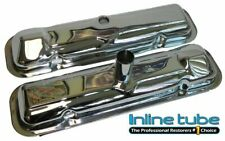 1964 Pontiac GTO Lemans Tempest Chrome Valve Covers Stamped Factory Correct OEM