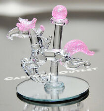 12 GLASS HORSE BABY SHOWER PINK CRYSTAL FAVORS GIFTS RECUERDOS ROSA NINA REGALO