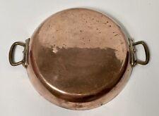 "Vintage E. Dehillerin Paris France 12"" Copper Paella Pan RARE"