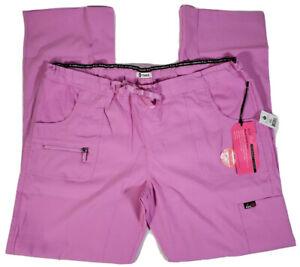Koi Lite Peace Womens XL Tall Light Orchid Scrub Pants Slim Fit #721-T, NWT