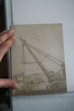 HMS VICTORIA orig albumen photo of  works to fit front turret  v rare image 1890