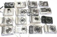Lot of 16 Canon Nikon Hp Fujifilm Digital Compact Cameras *For Parts/Repair*