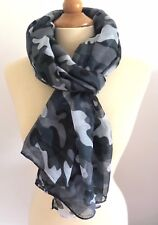 🔥FOULARD ECHARPE CHECHE CAMO CAMOUFLAGE ARMEE MILITAIRE GRIS🔥