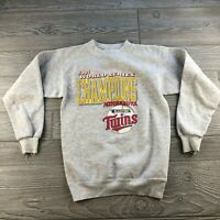 Mens Sz: M VTG 1991 Minnesota Twins World Series Champions Sweatshirt!