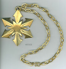 Huge Trifari Star Necklace Gold-tone Sunburst Starburst Large Chain Rare Vintage