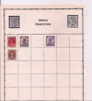 4 INDIA + 7 HUNGARY stamps on an album page.