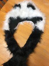 Adulte moelleux en Fausse Fourrure Panda/Animaux Chapeau/écharpe/gants-Bnwt