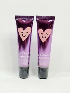 Bath and Body Works Pink Shimmer Lip Gloss Sweetheart Cupcake .47 Oz (2 Pack).